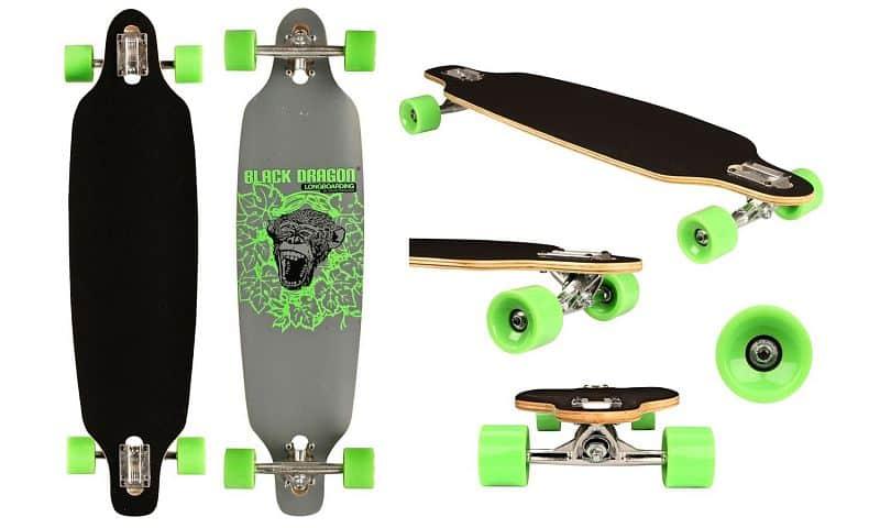 "Longboard Black Dragon Jungle Monkey 36"""