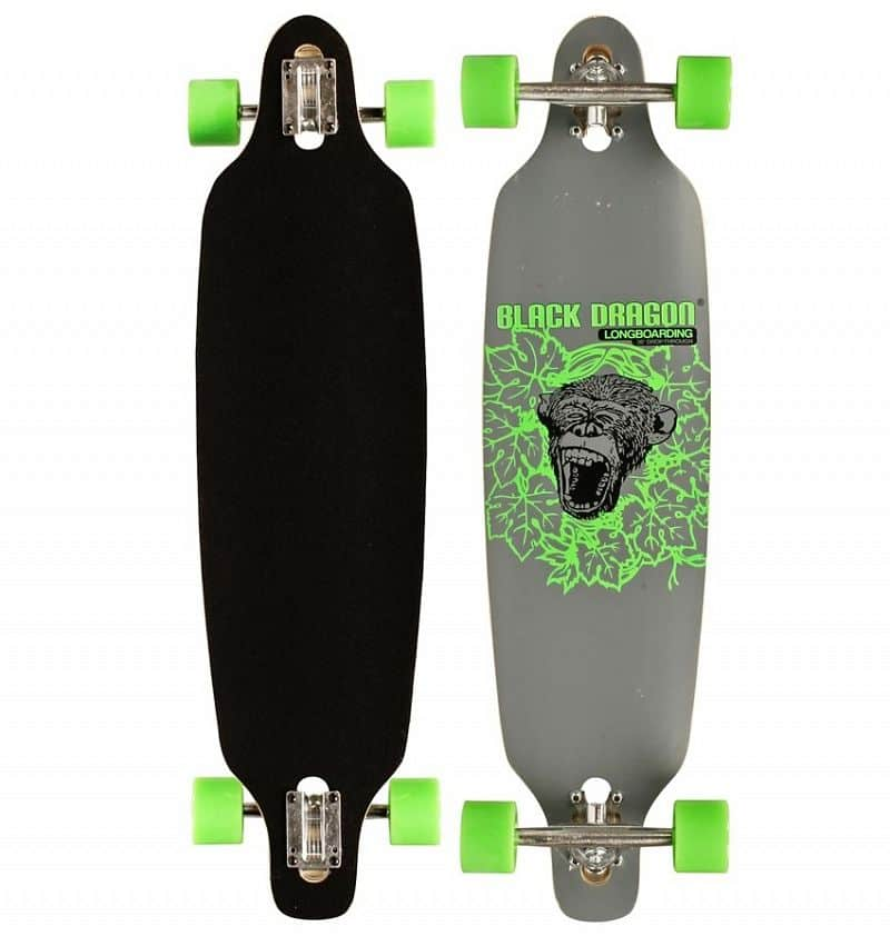 Longboard Black Dragon Jungle Monkey 36""