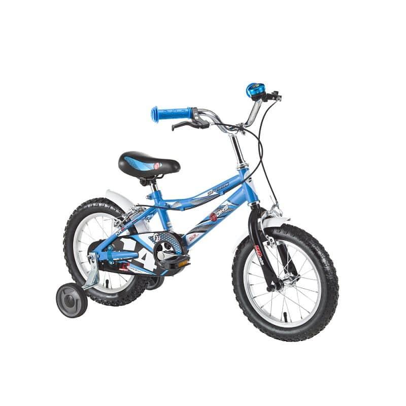 """Dětské kolo DHS Speed 1403 14"""" - model 2016 Barva Blue"""