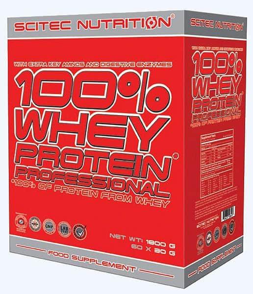 Scitec 100% Whey Protein Professional 1800 g mix příchutí