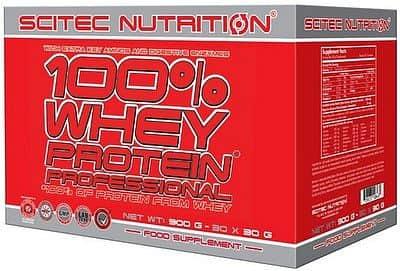Scitec 100% Whey Protein Professional 900 g mix příchutí