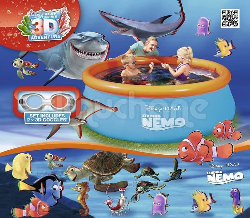 Bazén Bestway Fast set - Hledá se Nemo 3D + brýle