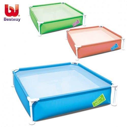 Bazén pro děti s konstrukcí Bestway 122 x 122 x 30,5 cm modrá