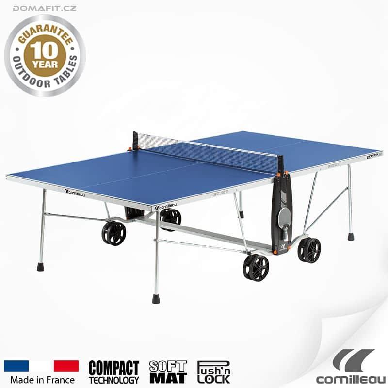 Stůl na stolní tenis CORNILLEAU 100 S Outdoor Modrý