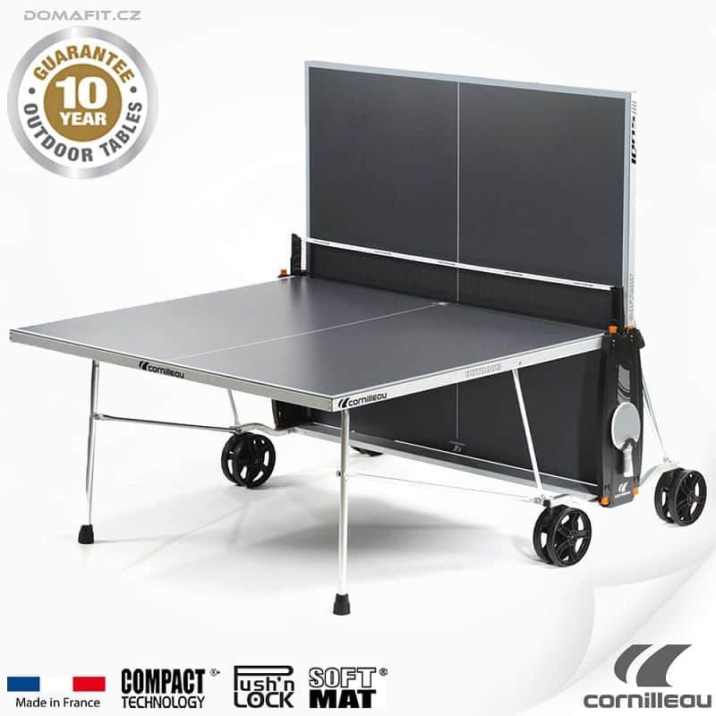 Stůl na stolní tenis CORNILLEAU 100 S Outdoor Šedý
