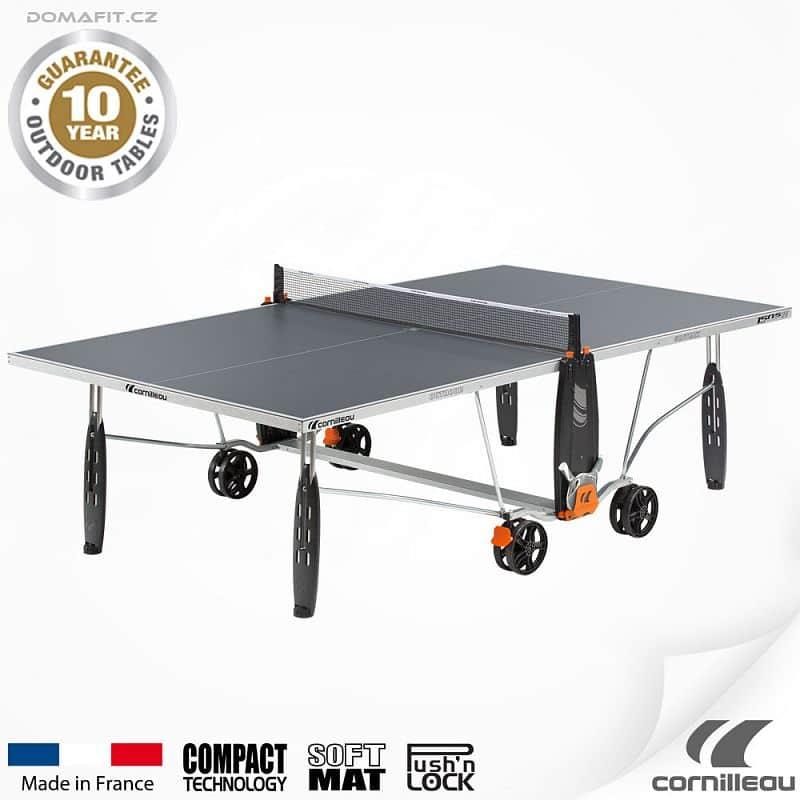 Stůl na stolní tenis CORNILLEAU 150 S Outdoor Šedý