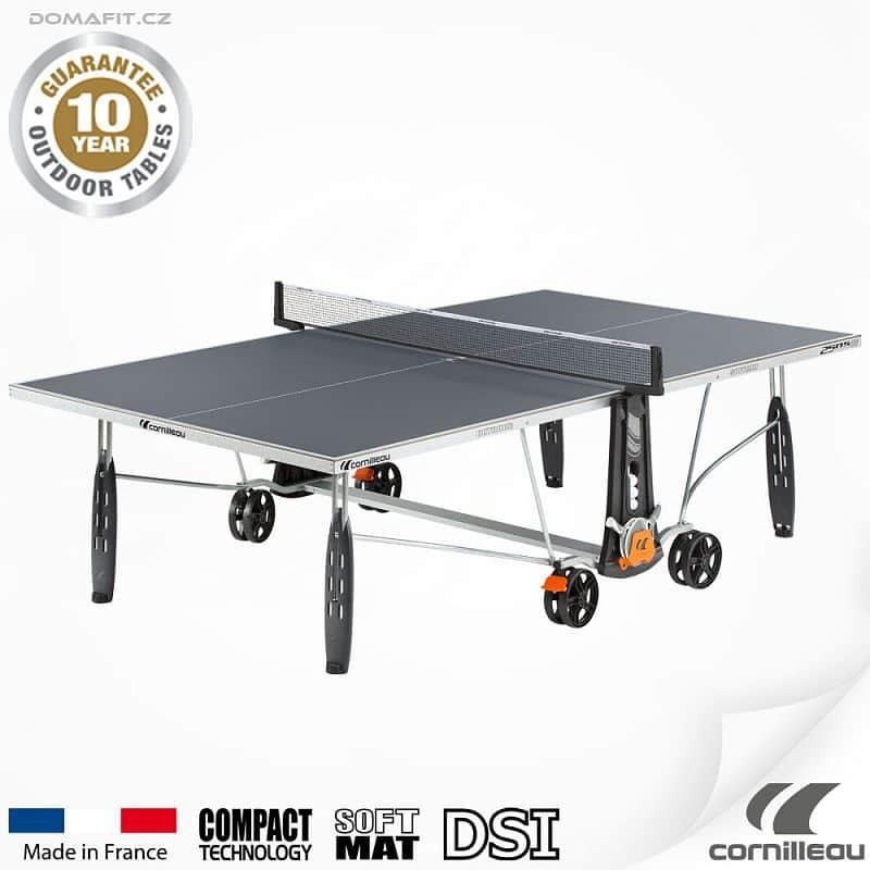 Stůl na stolní tenis CORNILLEAU 250 S Outdoor Šedý