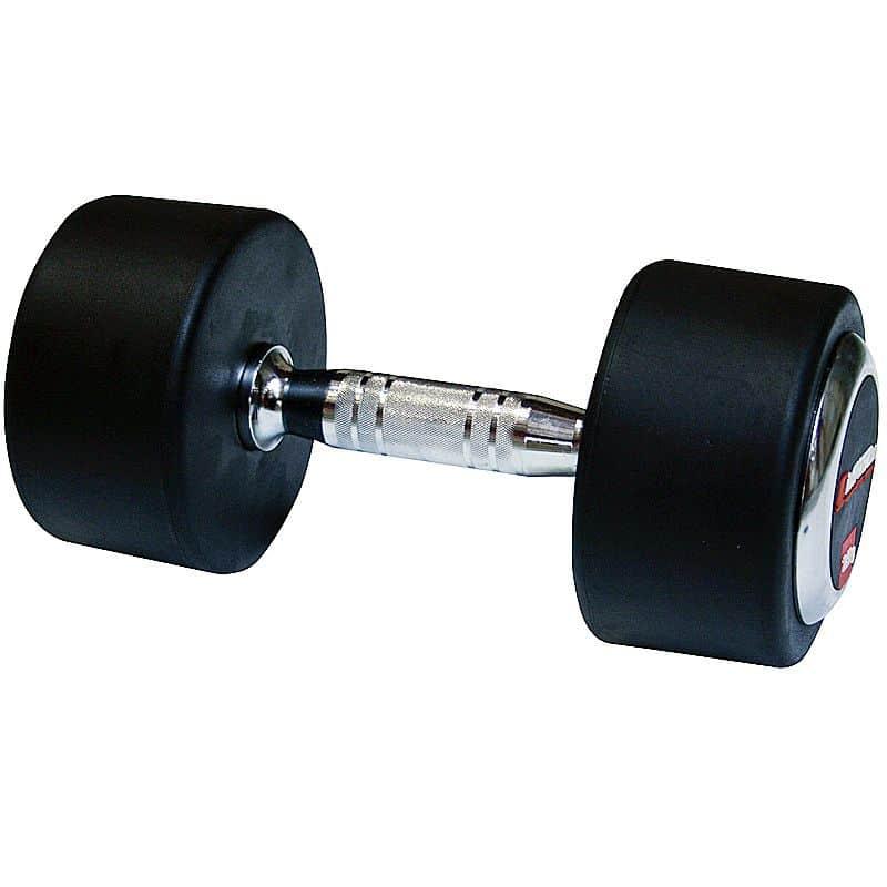 Profi pogumovaná jednoruční činka inSPORTline 25 kg