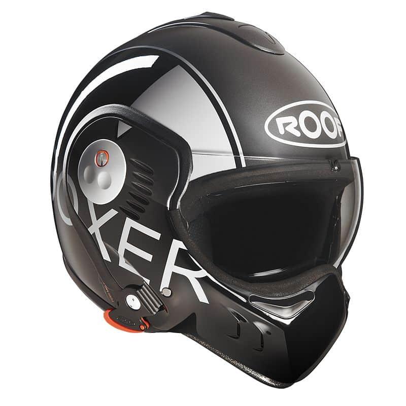 Moto přilba Roof Boxer V8 Grafic Barva černo-šedá, Velikost XL (61-62)