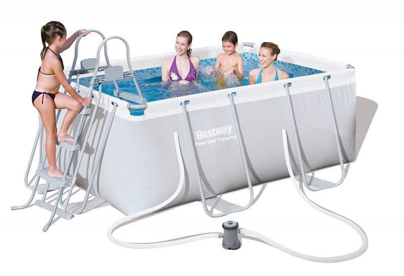 Bazén rodinný s konstrukcí Bestway 287 x 201 x 100 cm + filtrace a schůdky
