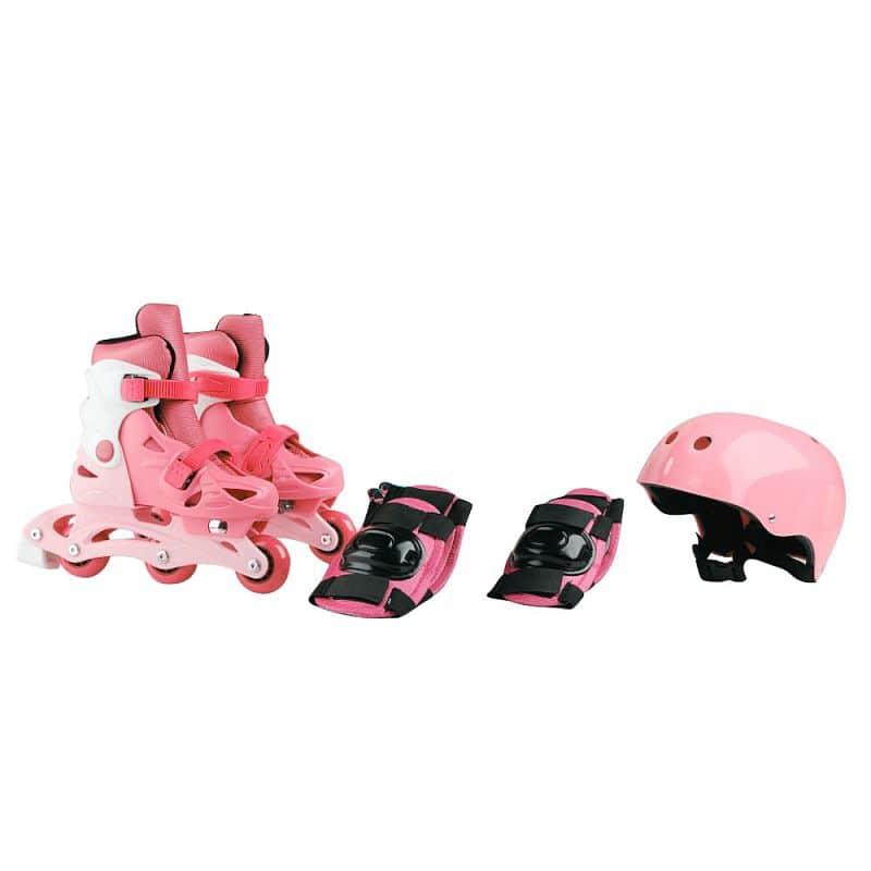 Dětské kolečkové brusle Laubr TriSkate + chrániče + helma