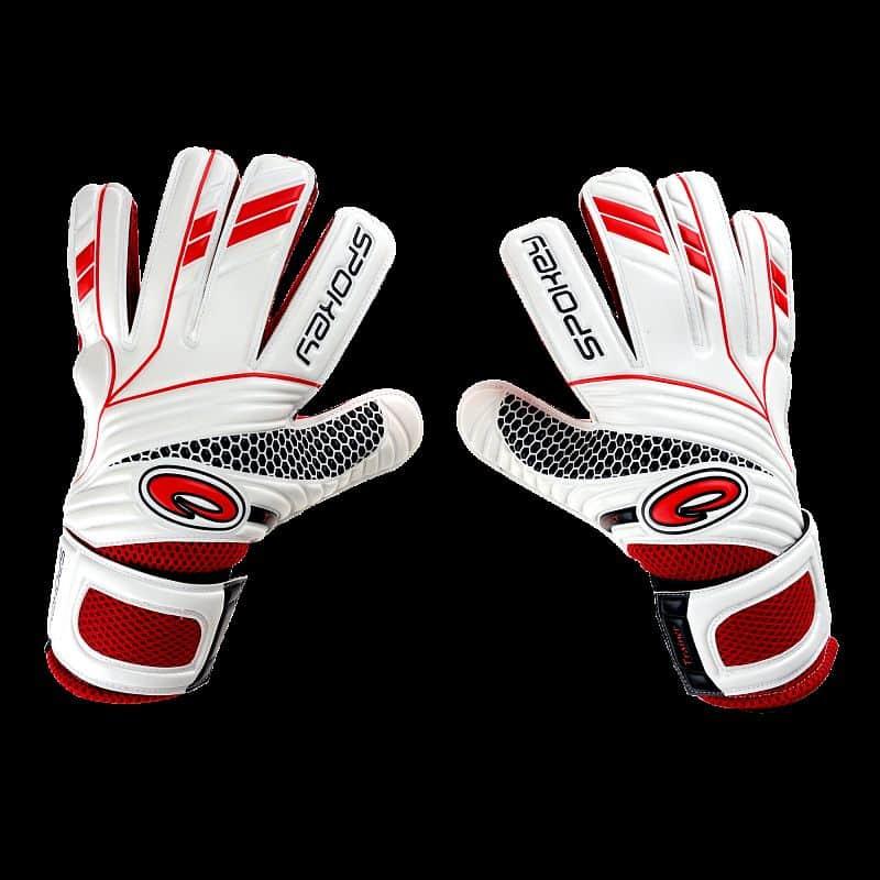 FORCE brankářské rukavice bílo-červená