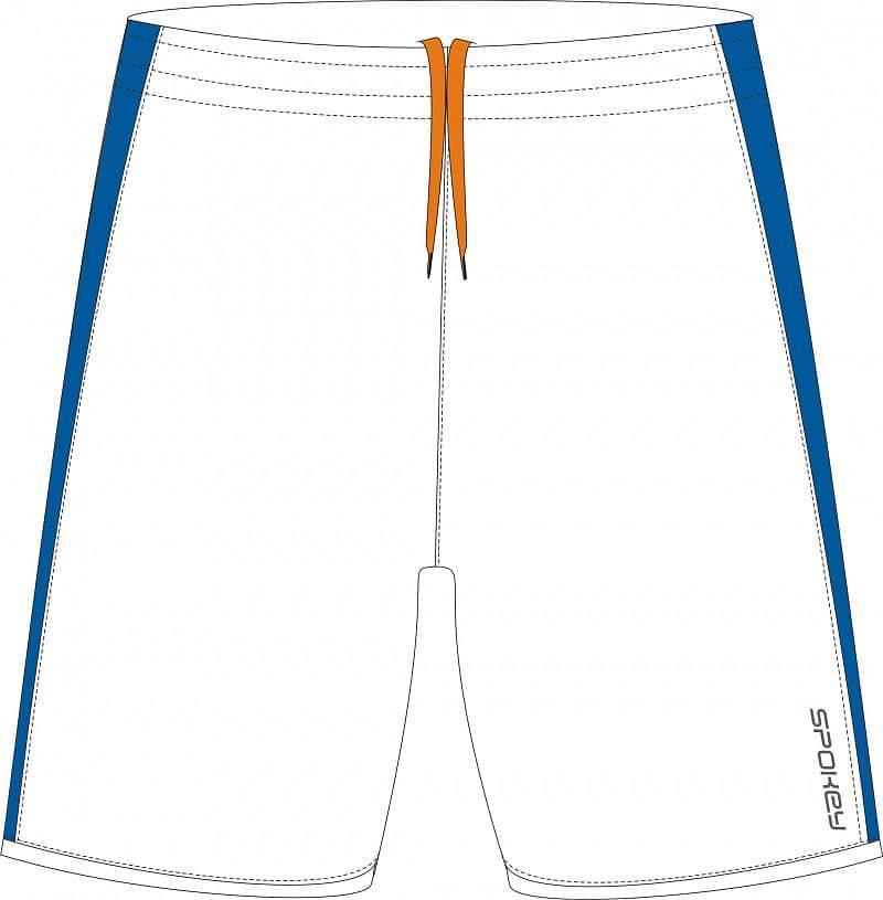 Fotbalové šortky bílo-modré S - XXL