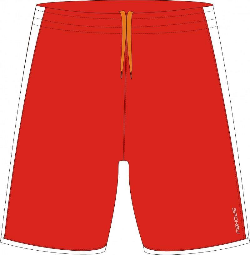 Fotbalové šortky červeno-bílé S - XXL