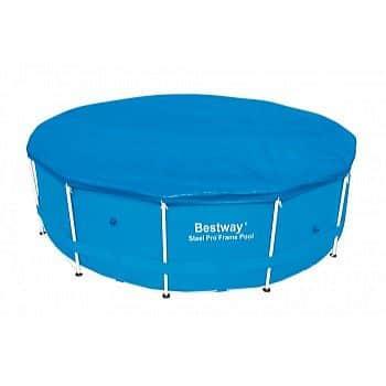 Krycí plachta Bestway na bazén s konstrukcí - kruh pro bazén 427 cm