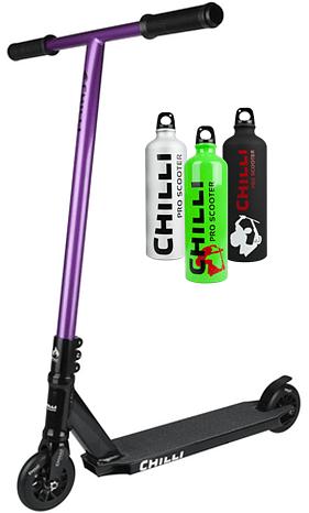 Chilli C1 2015 fialová freestyle koloběžka + lahev na vodu zdarma