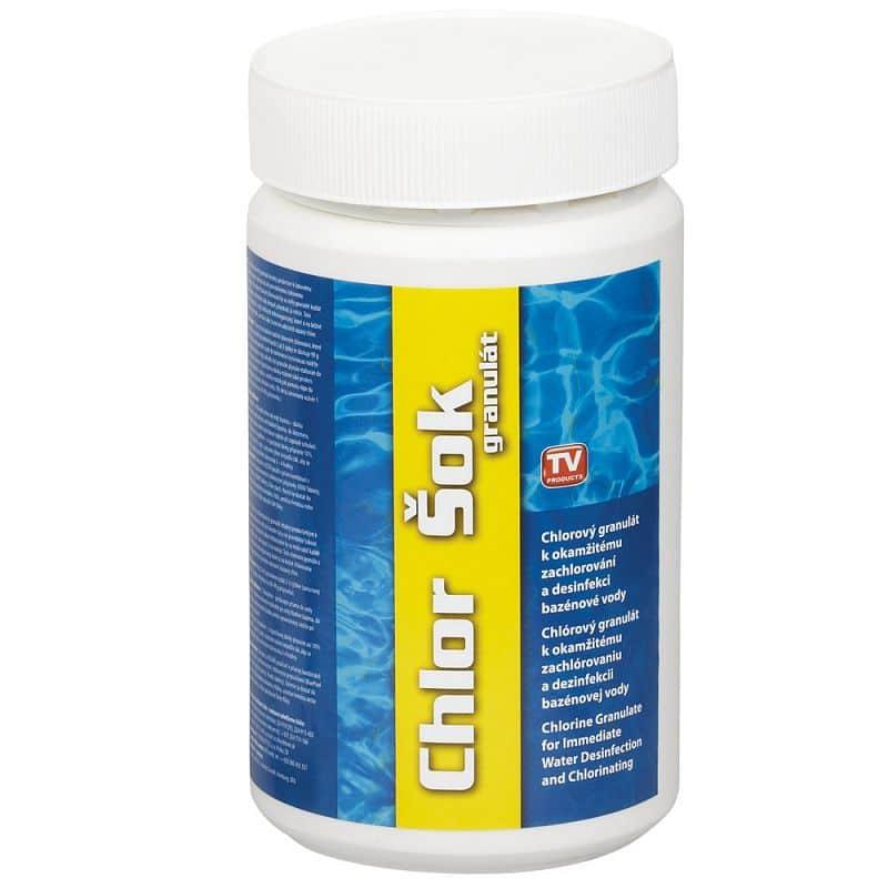 Bazénový chlor šok granulát 1 kg