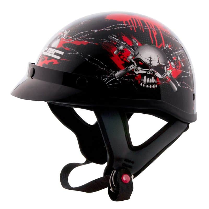 Moto přilba W-TEC AP-70 Barva černo-červená, Velikost XXL (62-63)