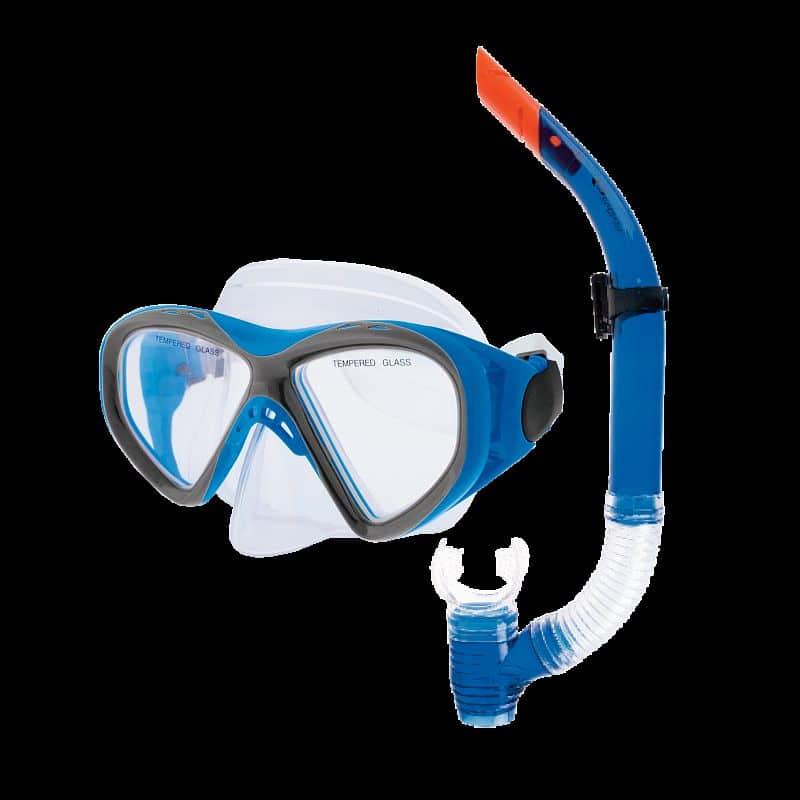 KRAKEN II Sada brýle + šnorchl modrá