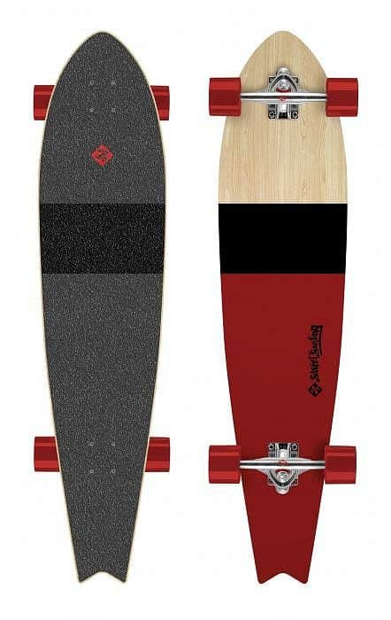 "Longboard Street Surfing FISHTAIL 42"" Line Up"