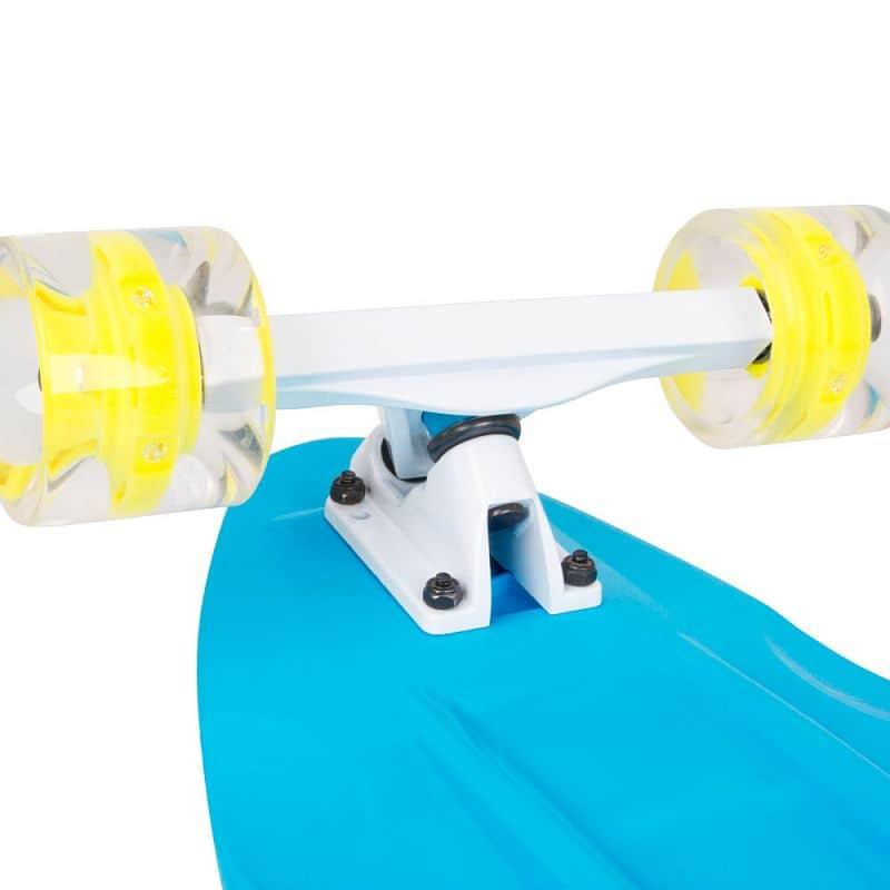 """Plastový longboard WORKER Pike 36"""" se svítícími kolečky"""