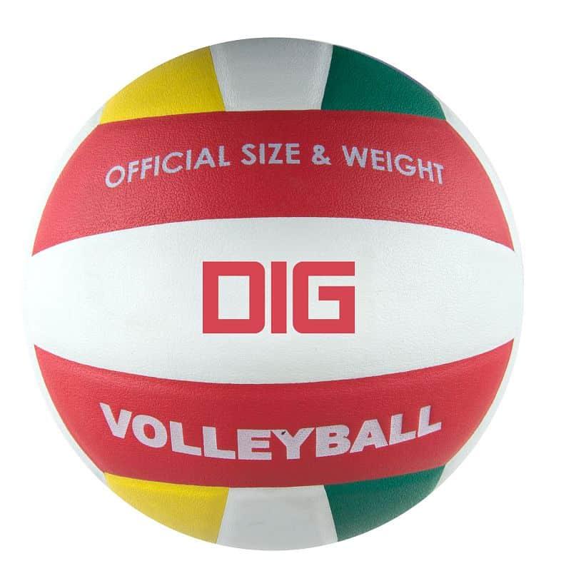DIG II Volejbalový míč bílo-červený vel.5