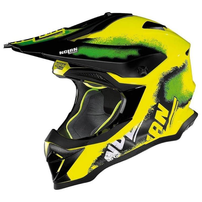 Motokrosová helma Nolan N53 Lazy Boy LED Yellow