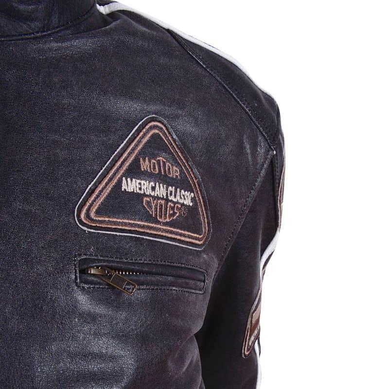 Kožená moto bunda BOS 2058 černá