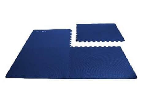 SCRAB - Podložka puzzle pod fitness vybavení_modrá_4 kusy 61x61 cm