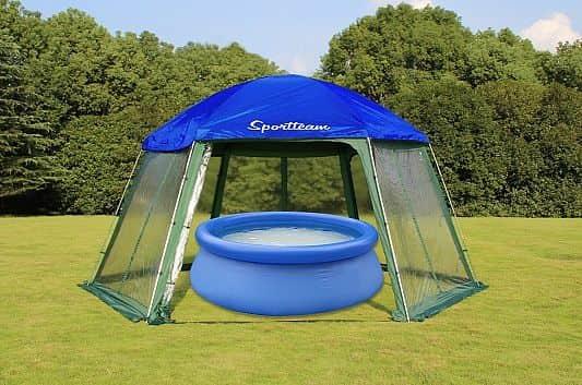 Zastřešení bazénu do prům. 3,66m, modro-zelená