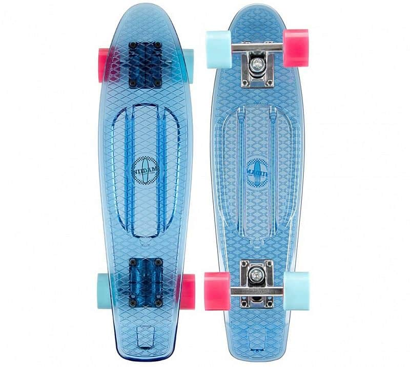 "PennyBoard NIJDAM 22.5"" TRANSPARENT BLUE"