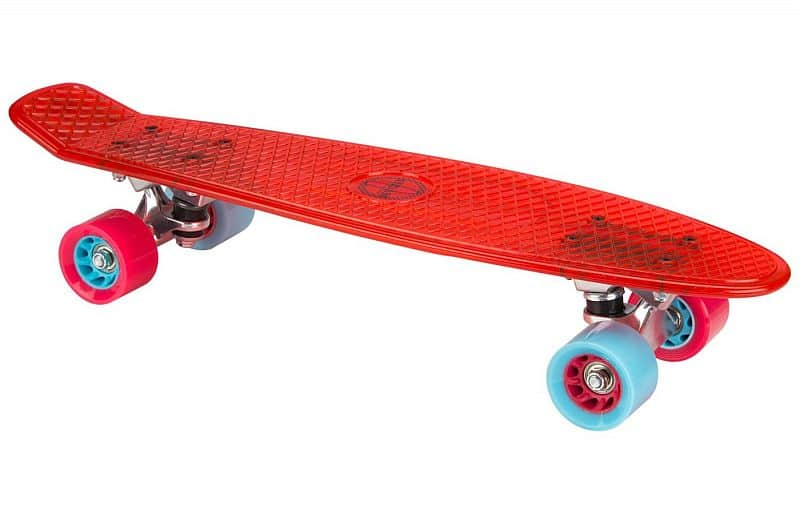 "PennyBoard NIJDAM 22.5"" TRANSPARENT RED"