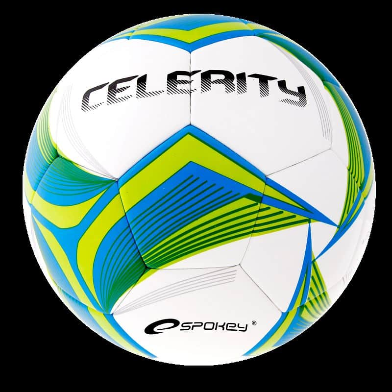 CELERITY Fotbalový míč modro-žlutý bezešvý č.5