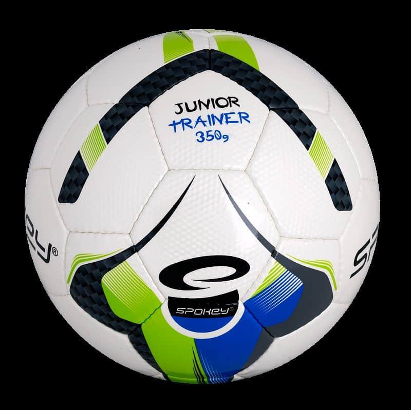 JUNIOR TRAINER Fotbalový míč zeleno-modrý vel.5