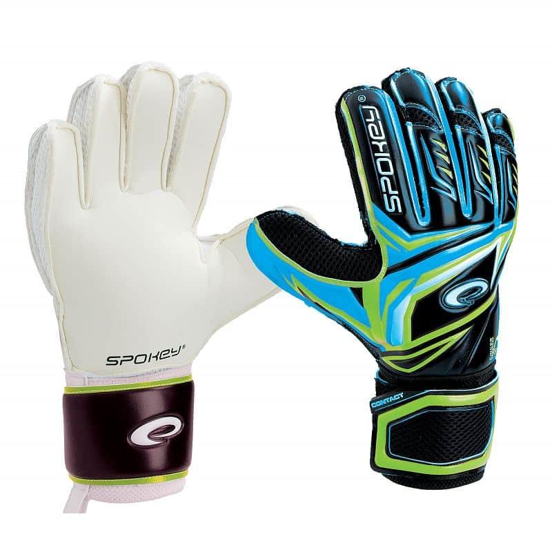 CONTACT II Brankářské rukavice černo-modrá
