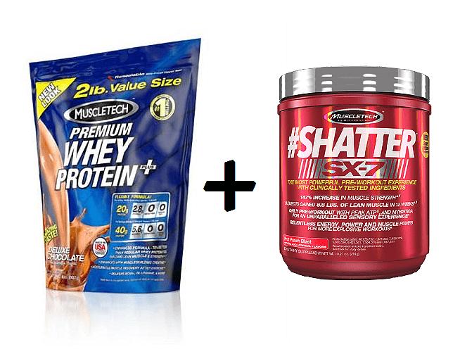 100 % Premium whey protein plus 908g + Shatter SX-7 180g ZDARMA