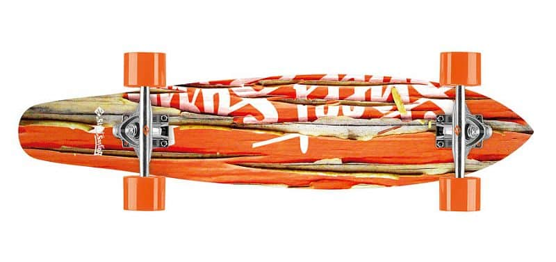 "Longboard Street Surfing KICKTAIL 36"" Damaged Orange"