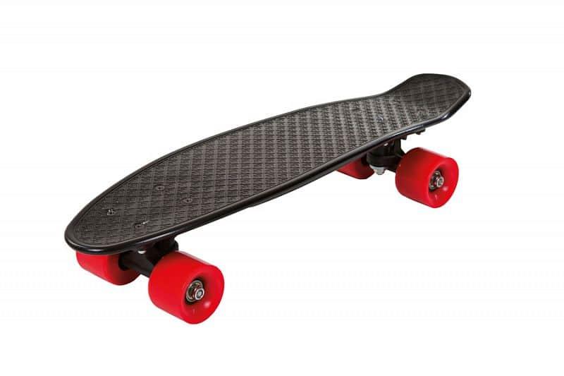 Skateboard FIZZ BOARD Black Red, černý