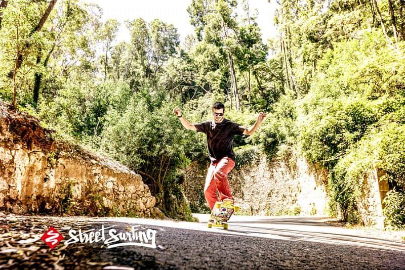 "Longboard Street Surfing FREERIDE 39"" Robot - artist series"