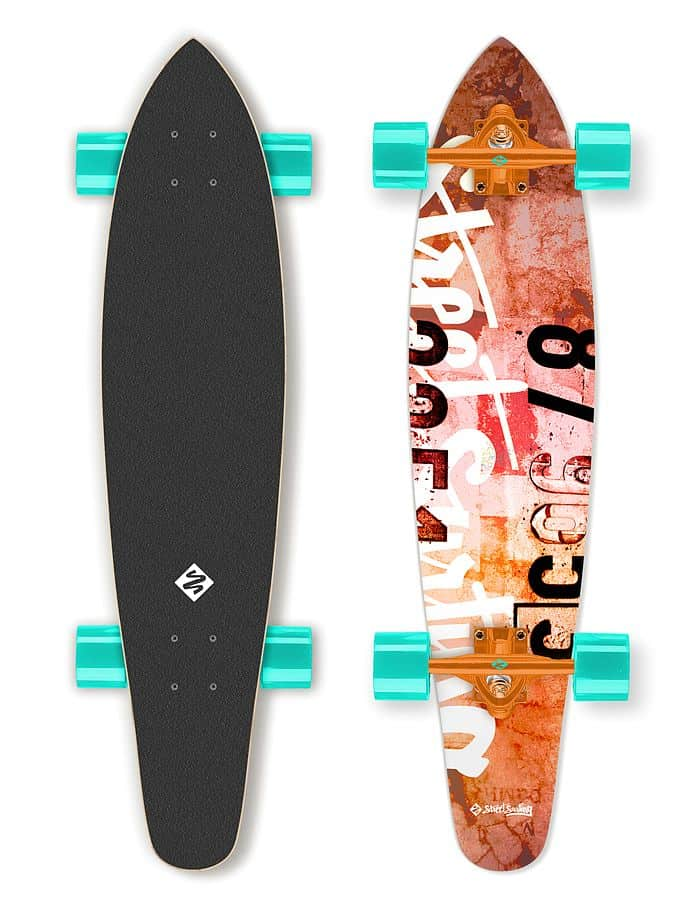 "Longboard Street Surfing KICKTAIL 36"" Urban Rough"