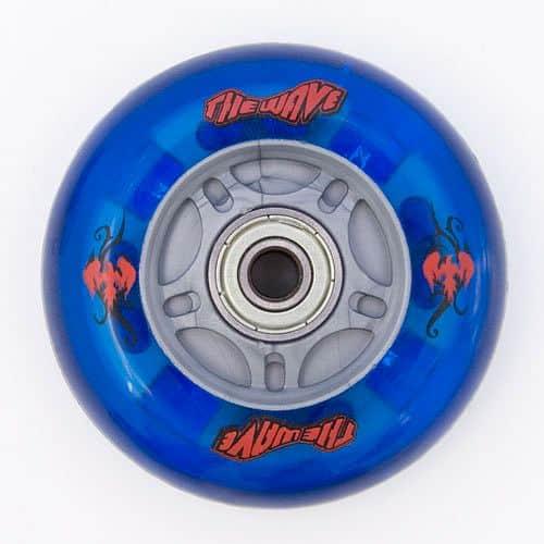Kolečka Street Surfing WAVEBOARD modrá svítící, 1 pár