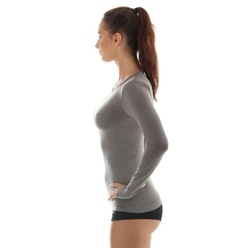 Dámské tričko Brubeck -  vlna dlouhý rukáv