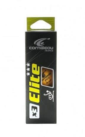 Míčky na stolní tenis Cornilleau ELITE *** ITTF x3 oranžové