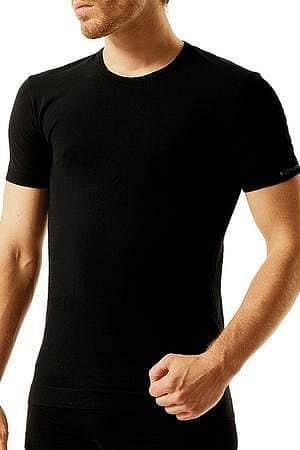 Pánské bezešvé bavlněné tričko Brubeck Barva černá XXL