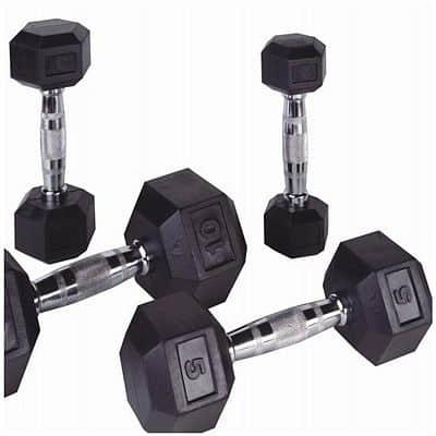 Jednoruční činky PROFI HEXA Bodysolid 1 - 50kg 2 x 10 kg