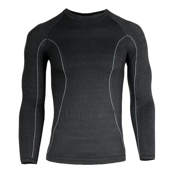 Pánské thermo triko Brubeck s dlouhým rukávem - černá M