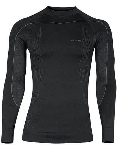 Pánské thermo triko Brubeck THERMO s dlouhým rukávem - černá XL
