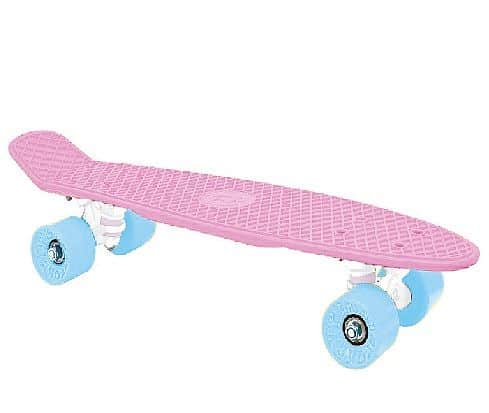 "CRUISER board 22 x 6"" růžový,modrá kolečka 60x45 mm"