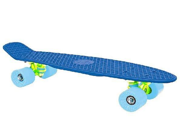 """CRUISER board 22 x 6"""" modrý, modrá kolečka 60x45 mm"""