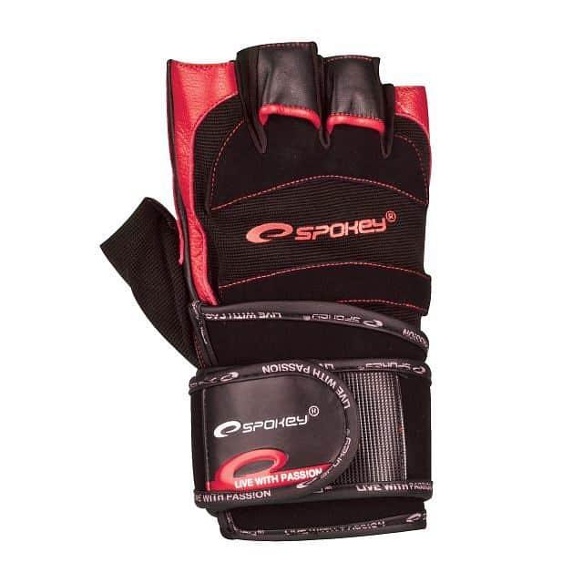 MITON  Fitness rukavice černo-červená